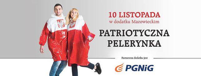 Modę na biało-czerwone pelerynki zapoczątkowało zdjęcie Jarosława Kaczyńskiego
