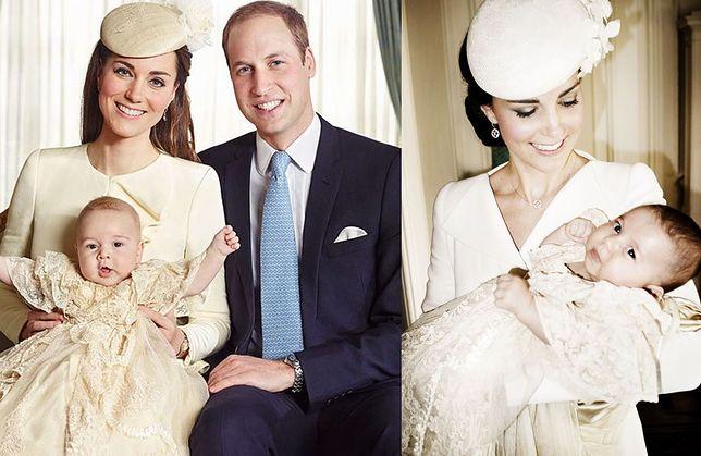 Księżna Kate, książę Jerzy, księżniczka Charlotte, książę William
