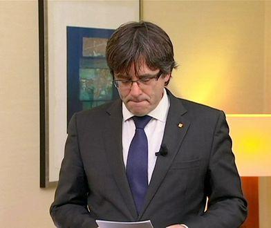 Kataloński przywódca zgłosił się na policję w Belgii. Hiszpania żądała jego aresztowania