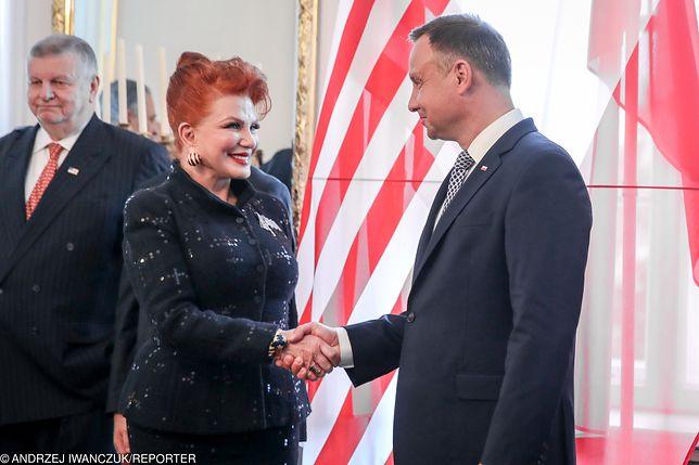 Ambasador Georgette Mosbacher oraz prezydent Andrzej Duda