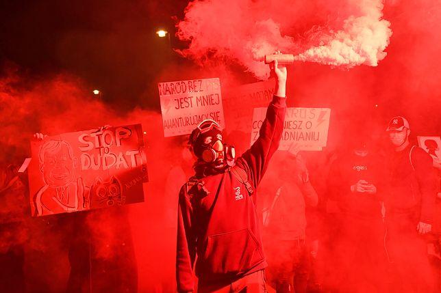 Protest na ulicach Warszawy po orzeczeniu TK ws. aborcji