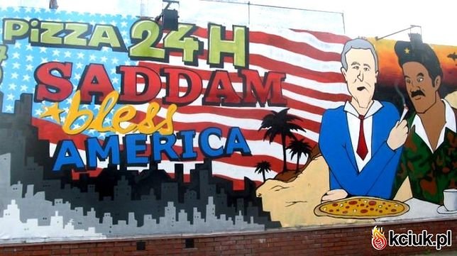 Warszawski humor: Pizza od Saddama!