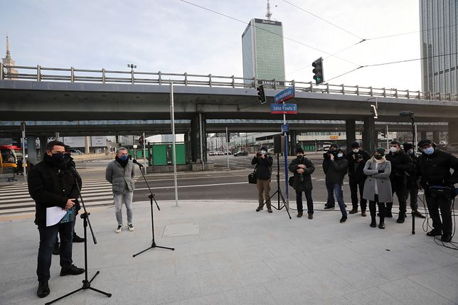 Warszawa. Rafał Trzaskowski podczas konferencji prasowej