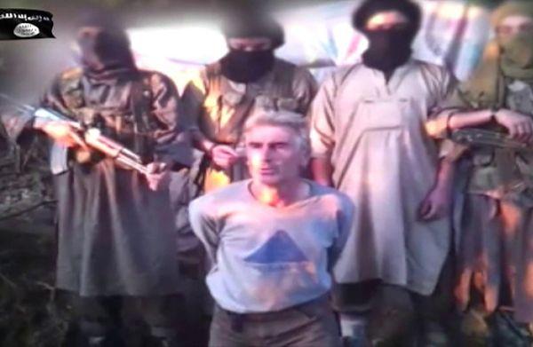 Kadra z nagrania egzekucji Herve Gourdela