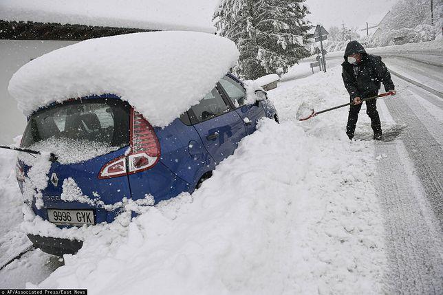 Hiszpania została sparaliżowana przez obfite opady śniegu
