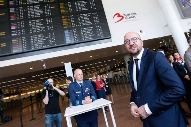 Premier Belgii na otwarciu hali odlotów