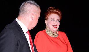 Bal TVN. Georgette Mosbacher zachwyciła suknią na czerwonym dywanie