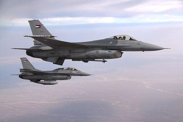 Jordańskie myśliwce F-16