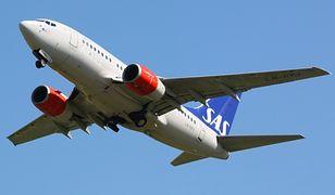 Samolot SAS cudem uniknął zderzenia w powietrzu