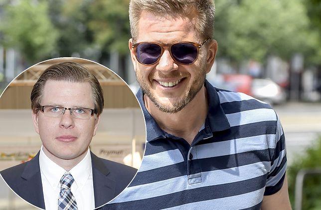 Filip Chajzer w 2021 r. i 7 lat wcześniej