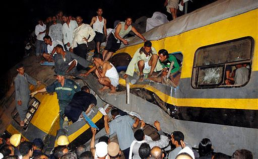 Katastrofa kolejowa w Egipcie - 25 zabitych, 55 rannych