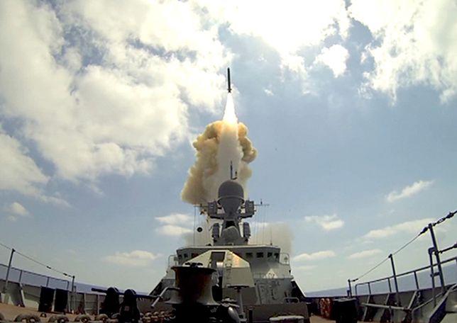 Rosyjskie okręty wystrzeliły pociski manewrujące na cele w Syrii