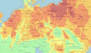 Polska jest najbardziej zagrożona pożarami ze wszystkich europejskich krajów. Dane Fire Weather Index.