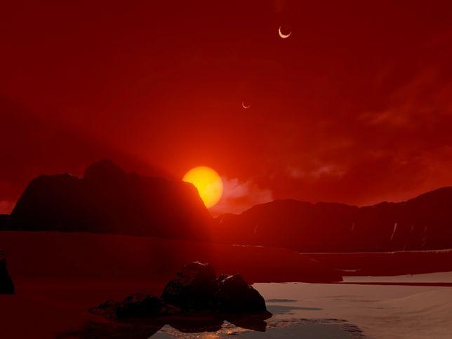 Wizualizacja powierzchni jednej z planet