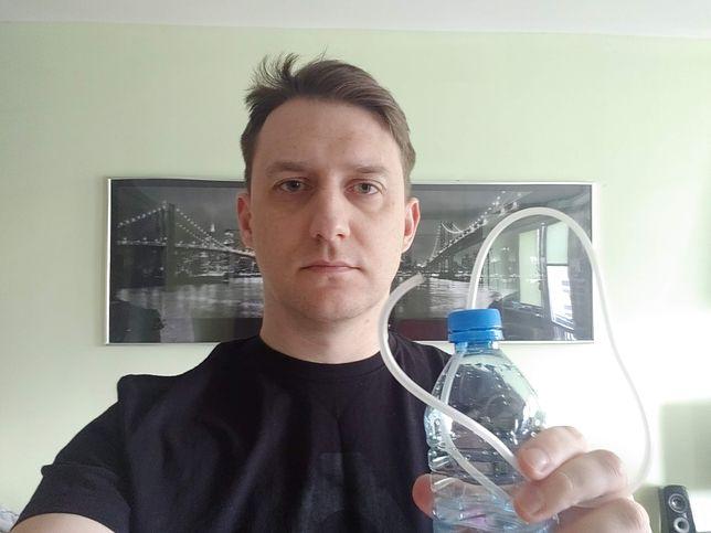 Lekarze polecają wykonanie prostej dmuchawki z butelki i cienkiej rurki. Zrobiłem ją w kilka minut (Bolesław Breczko)