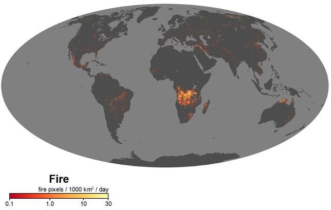 Pożary na świecie - raport NASA