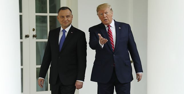 Prezydenci Polski i USA: Andrzej Duda i Donald Trump.