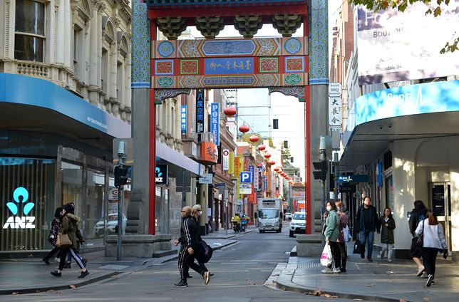 Melbourne, stolica stanu Viktoria. We wtorek zamknięte zostaną granice z sąsiednią Nową Południową Walią