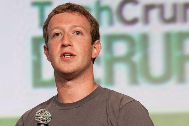 Szef Facebooka Mark Zuckerberg