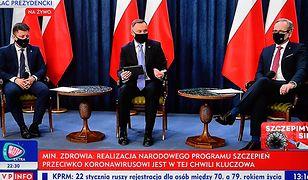 Koronawirus w Polsce. Andrzej Duda, Adam Niedzielski i Michał Dworczyk odpowiadali na pytania związane ze szczepieniami na COVID-19