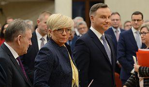 I prezes TK Julia Przyłębska i prezydent Andrzej Duda