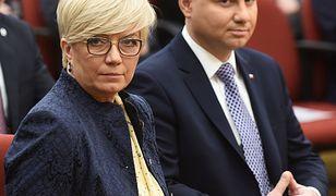 Prezes TK Julia Przyłębska i prezydent Andrzej Duda.
