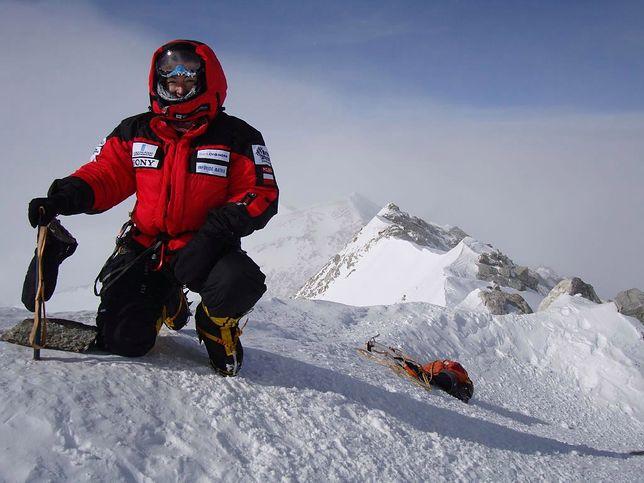 Martyna Wojciechowska na Masywie Vinsona, najwyższym punkcie Antarktydy