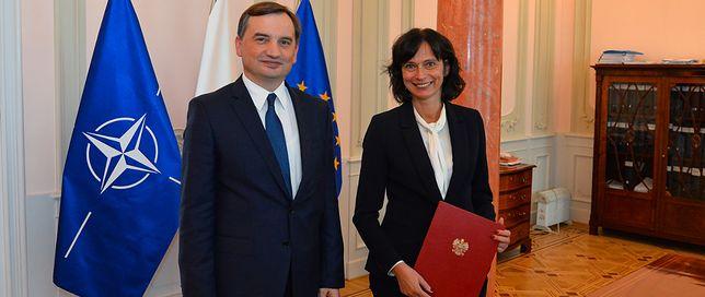 Zbigniew Ziobro i nowa wiceminister Anna Dalkowska