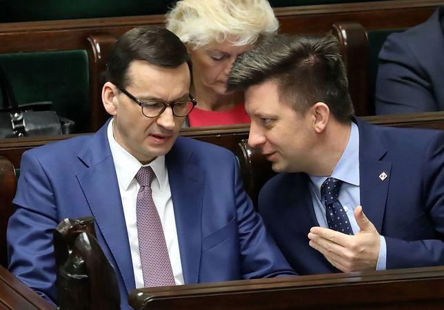 Premier Mateusz Morawiecki i szef jego kancelarii Michał Dworczyk