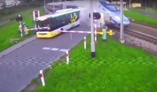 Akt oskarżenia dla kierowcy autobusu. Wjechał na czerwonym przed pendolino