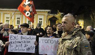 Ihor Mazur został zwolniony z aresztu. Na zdjęciu: protest przed ambasadą RP w Kijowie po zatrzymaniu Ukraińca (zdj. arch.)