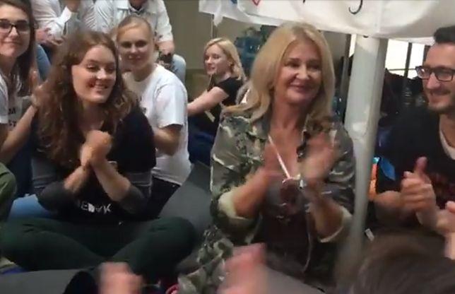 Majka Jeżowska i protestujący rezydenci