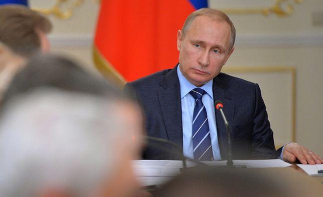 Władimir Putin na posiedzeniu rządowym