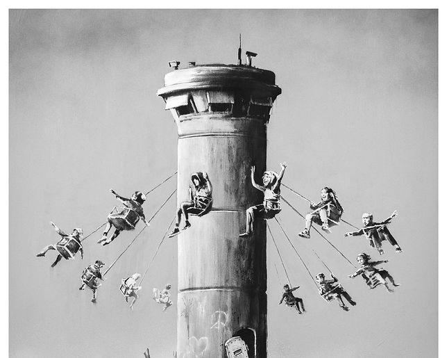 Banksy oskarżony o antysemityzm. Sprawa dotyczy plakatu o Palestynie