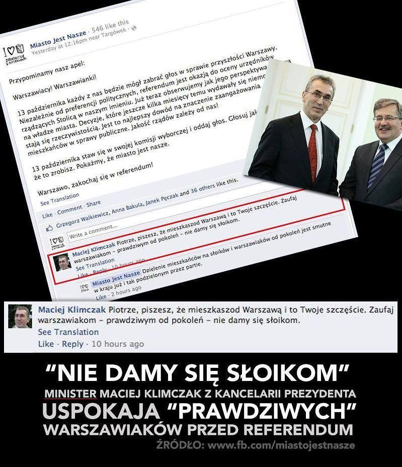 """Urzędnik Prezydenta Komorowskiego: """"Nie damy się słoikom"""""""