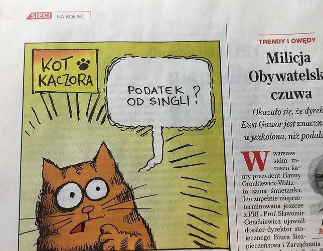 """""""Sieci"""" żartują z podatku, prezesa PiS i jego kota"""