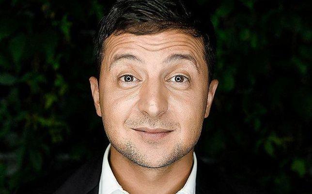 Wołodymyr Zełenski, lider sondaży przedwyborczych.