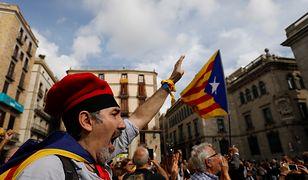 Katalońscy demonstranci żądają uwolnienia przywódców separatystów