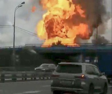 Rosja. Ogromny pożar w elektrowni pod Moskwą