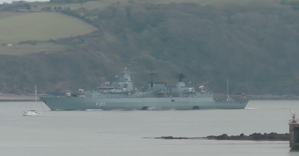 Niemiecka fregata wyruszyła w podróż