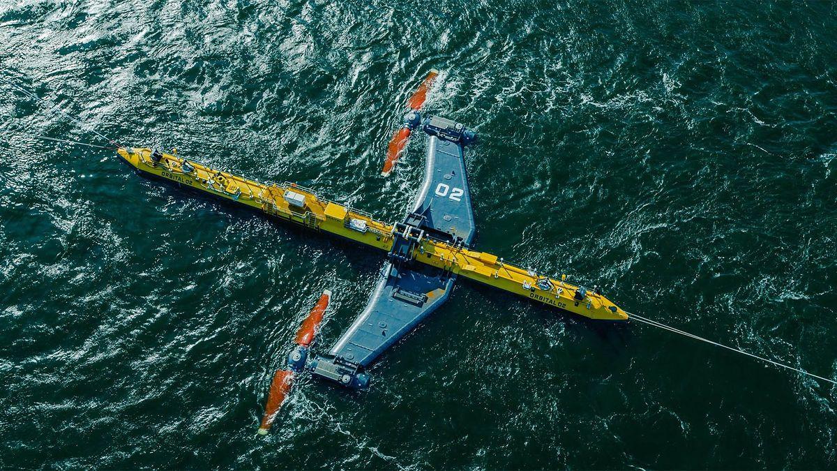 Turbina pływowa O2 (fot. Orbitalmarine.com)