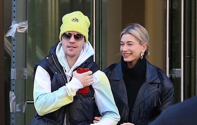 Justin Bieber z żoną na spacerze w Nowym Jorku