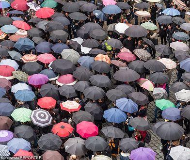 Na zdj. Protesty w rocznicę Czarnego Marszu, Wrocław