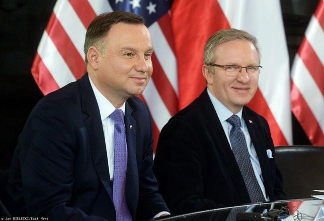 Prezydent Andrzej Duda oraz Krzysztof Szczerski