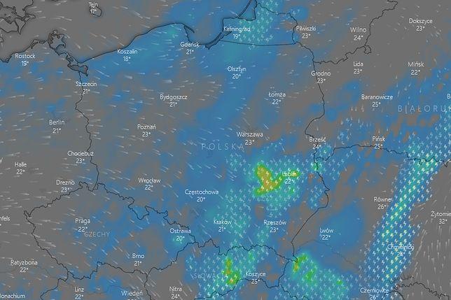 Sprawdź, gdzie jest burza na radarach online