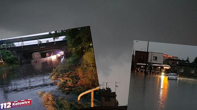 Potężne burze na Śląsku. Zalane drogi, zerwane dachy. Ewakuowano harcerzy
