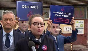Wybory parlamentarne 2019. Konferencja prasowa Lewicy Razem (od lewej: Robert Biedroń, Julia Zimmerman)