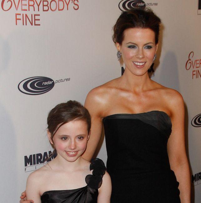 Kate Beckinsale z córką Lily Mo Sheen w 2009 r.