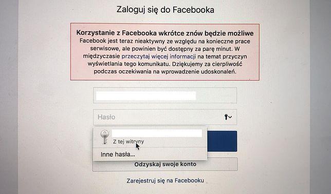 Polscy użytkownicy Facebooka narzekają na trudności w zalogowaniu się do serwisu