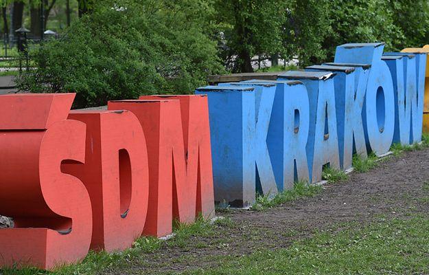 Napis promujący ŚDM w Krakowie wkrótce zniknie, nie będzie zabaw literkami